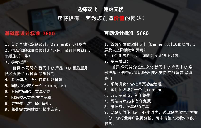北京网站建设套餐